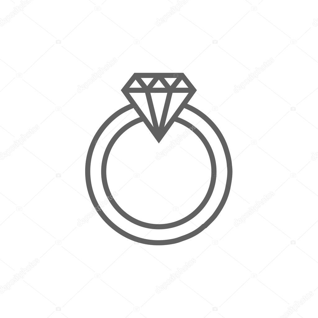 bague diamant ligne
