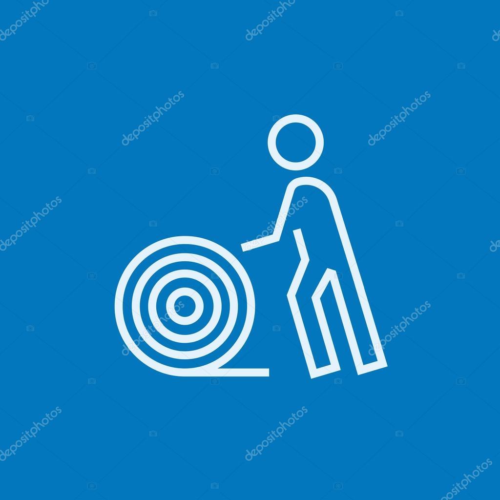 Mann mit Draht Spule Symbol — Stockvektor © rastudio #104482268