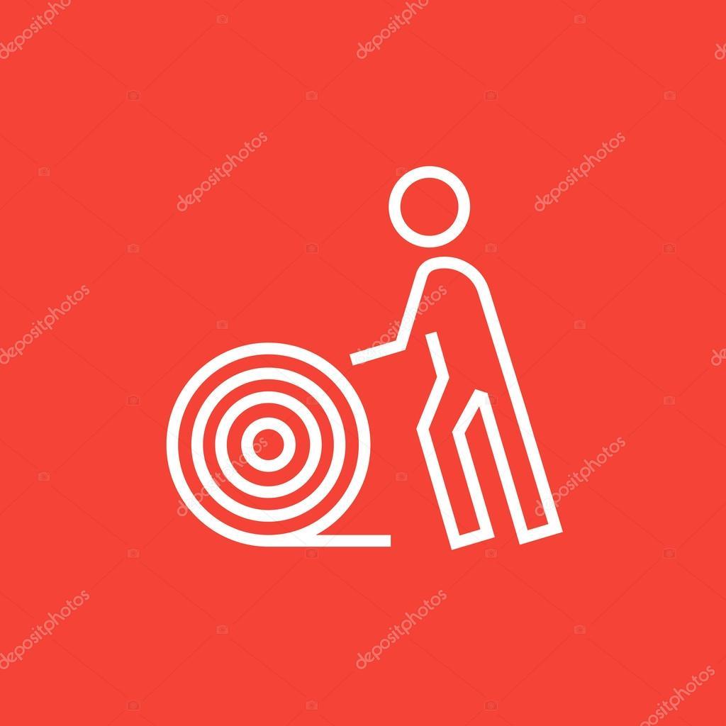 Mann mit Draht Spule Symbol — Stockvektor © rastudio #106117382