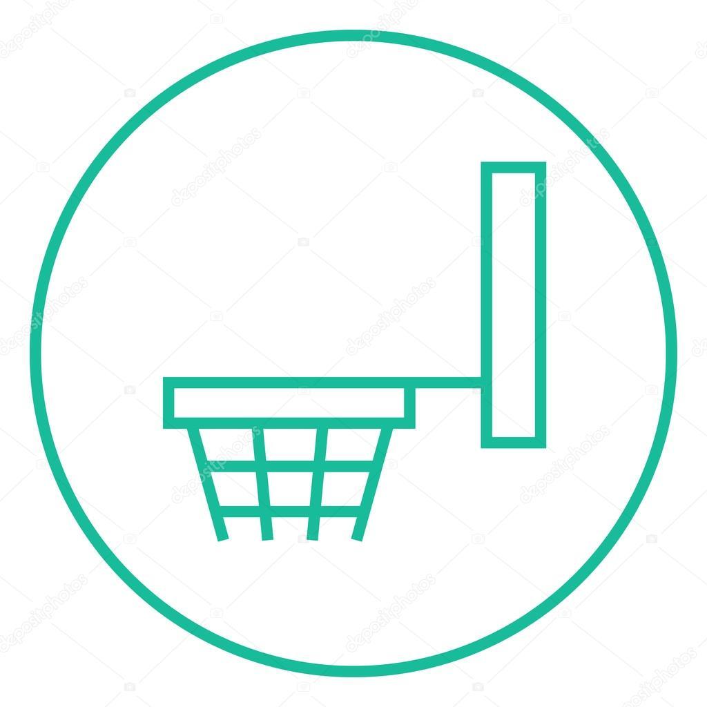 Basketball Hoop Line Icon Stock Vector Rastudio 106573770 Diagram