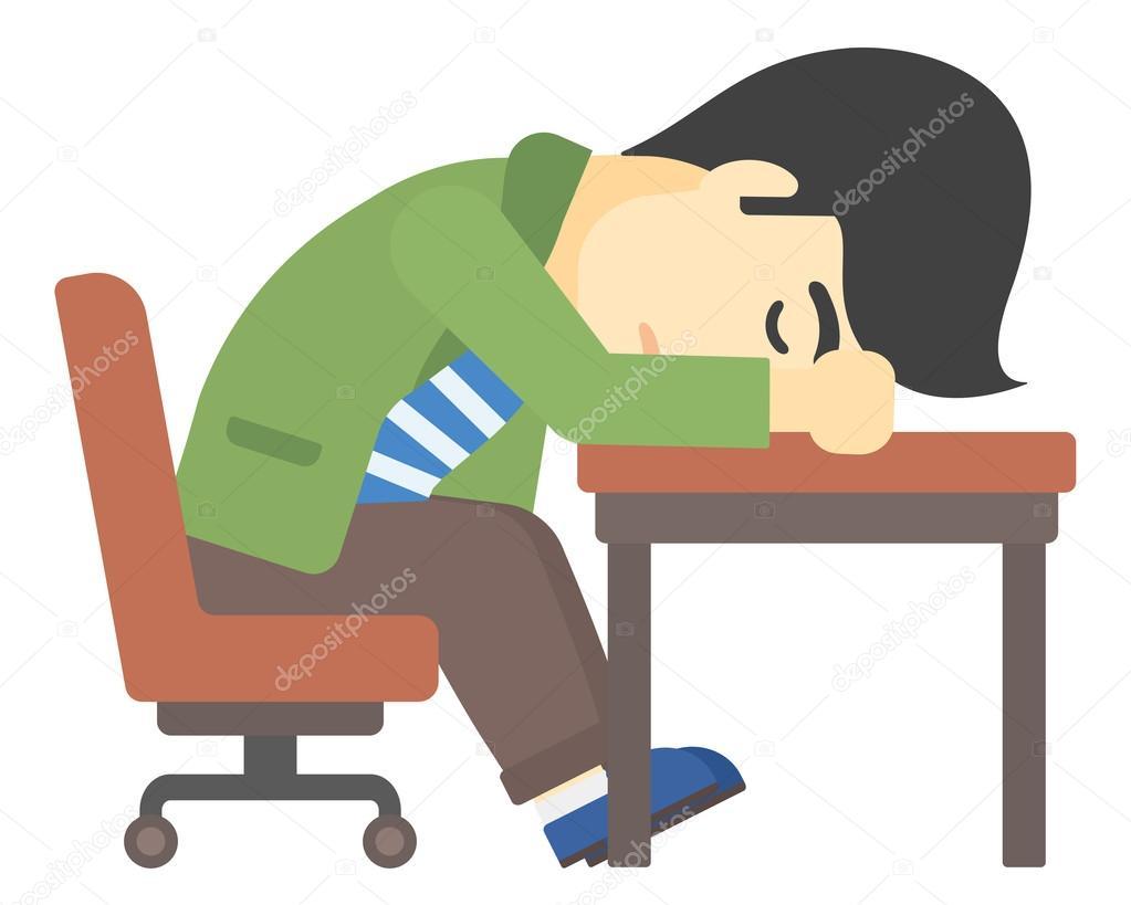 картинка спящего человека за столом торта