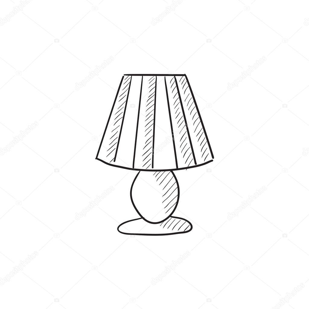 Table Lamp Sketch Icon Stock Vector 169 Rastudio 112213752
