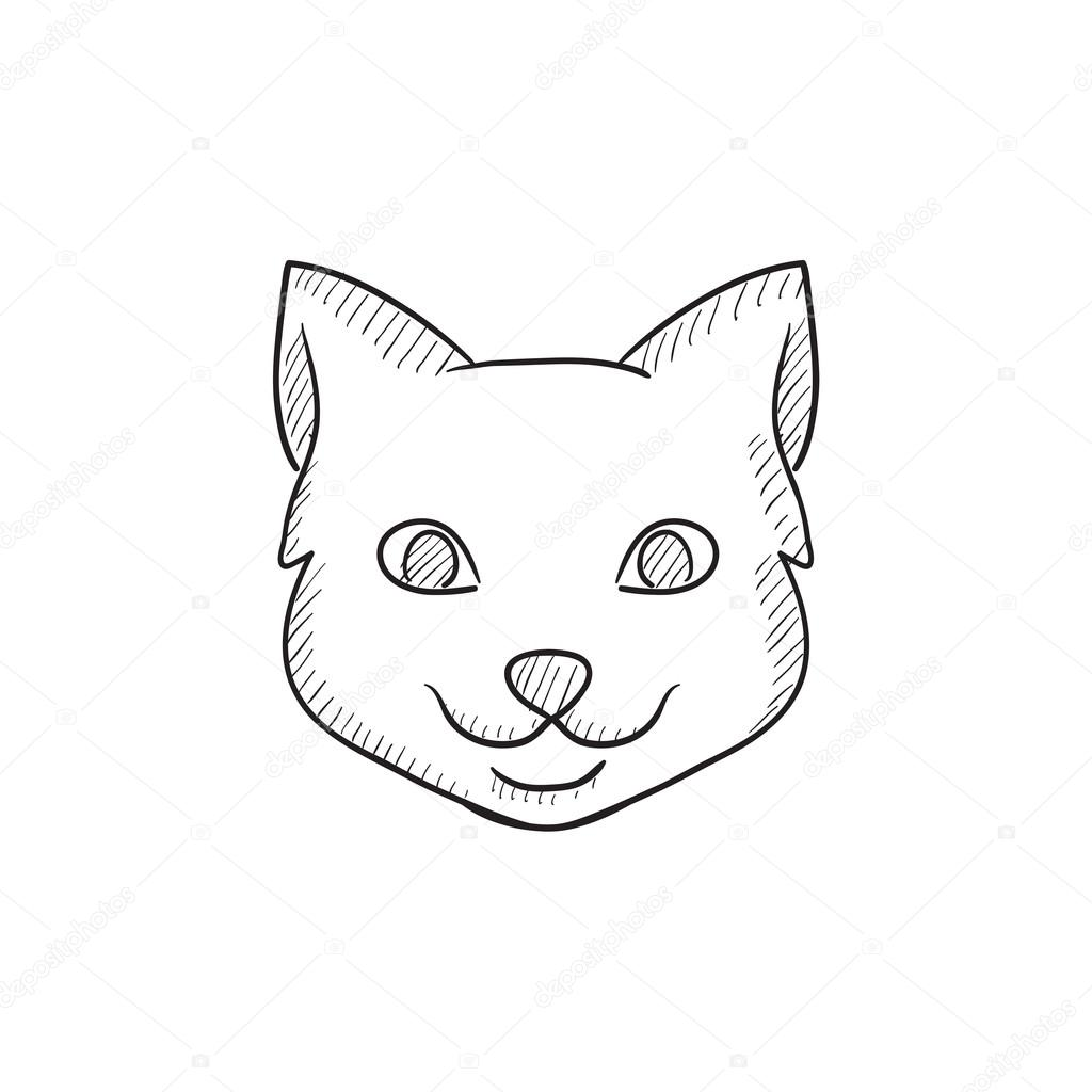 Uncategorized Cat Head Drawing cat head sketch icon stock vector rastudio 112220964 isolated on background hand drawn for infographic website or