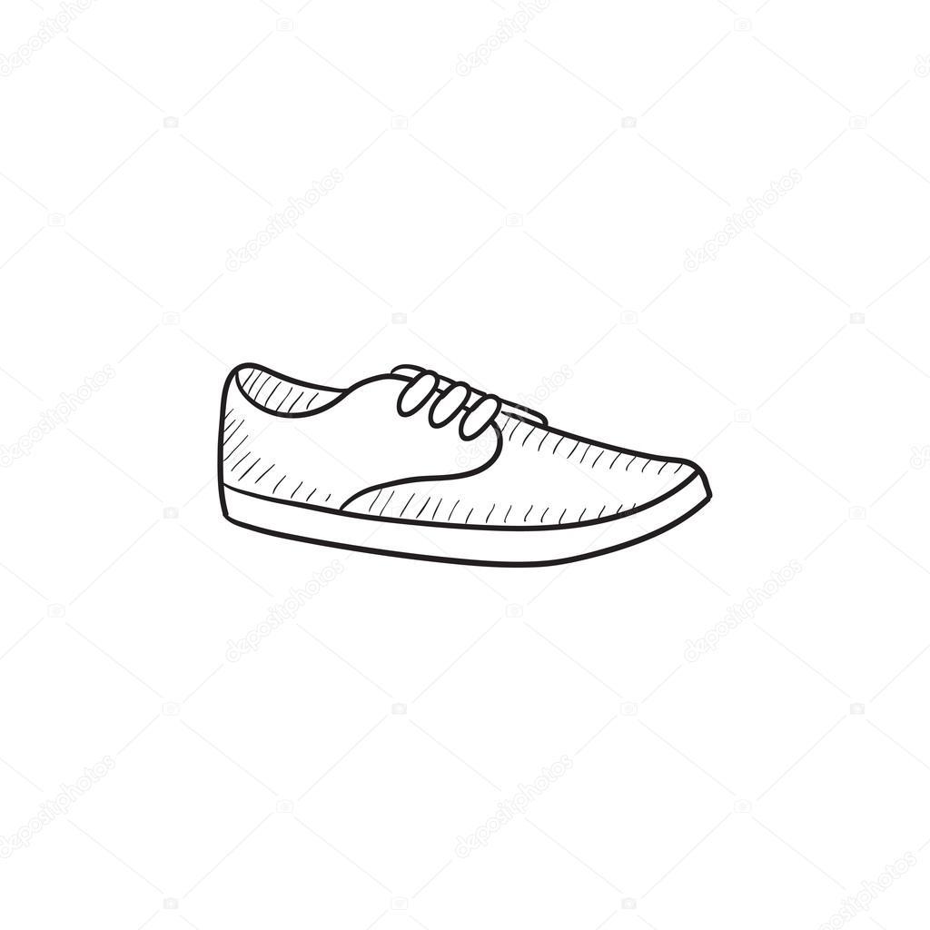 Zapato Masculino © Esbozo Rastudio Icono — Stock Vector De LzVGqUpSM