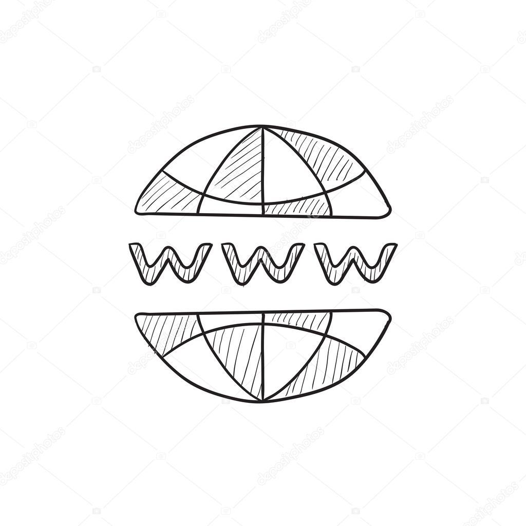 Internet Skizze Globussymbol — Stockvektor © rastudio #112231030
