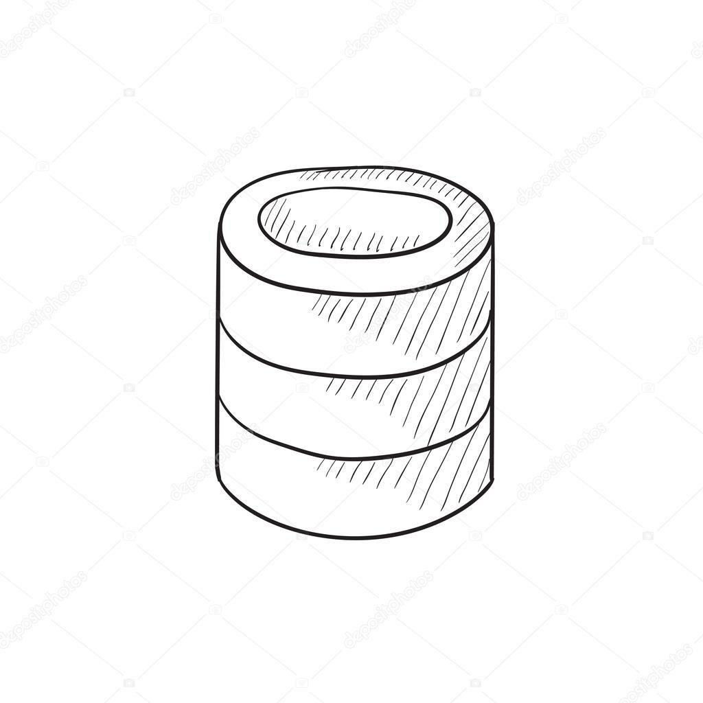 Computer-Server-Skizze-Symbol — Stockvektor © rastudio #112233604
