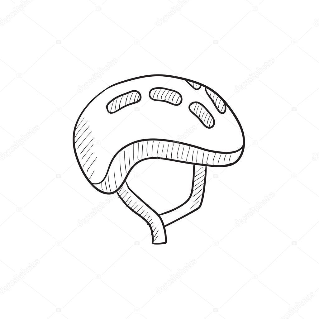 Bicycle Helmet Sketch Icon Stock Vector C Rastudio 112234780