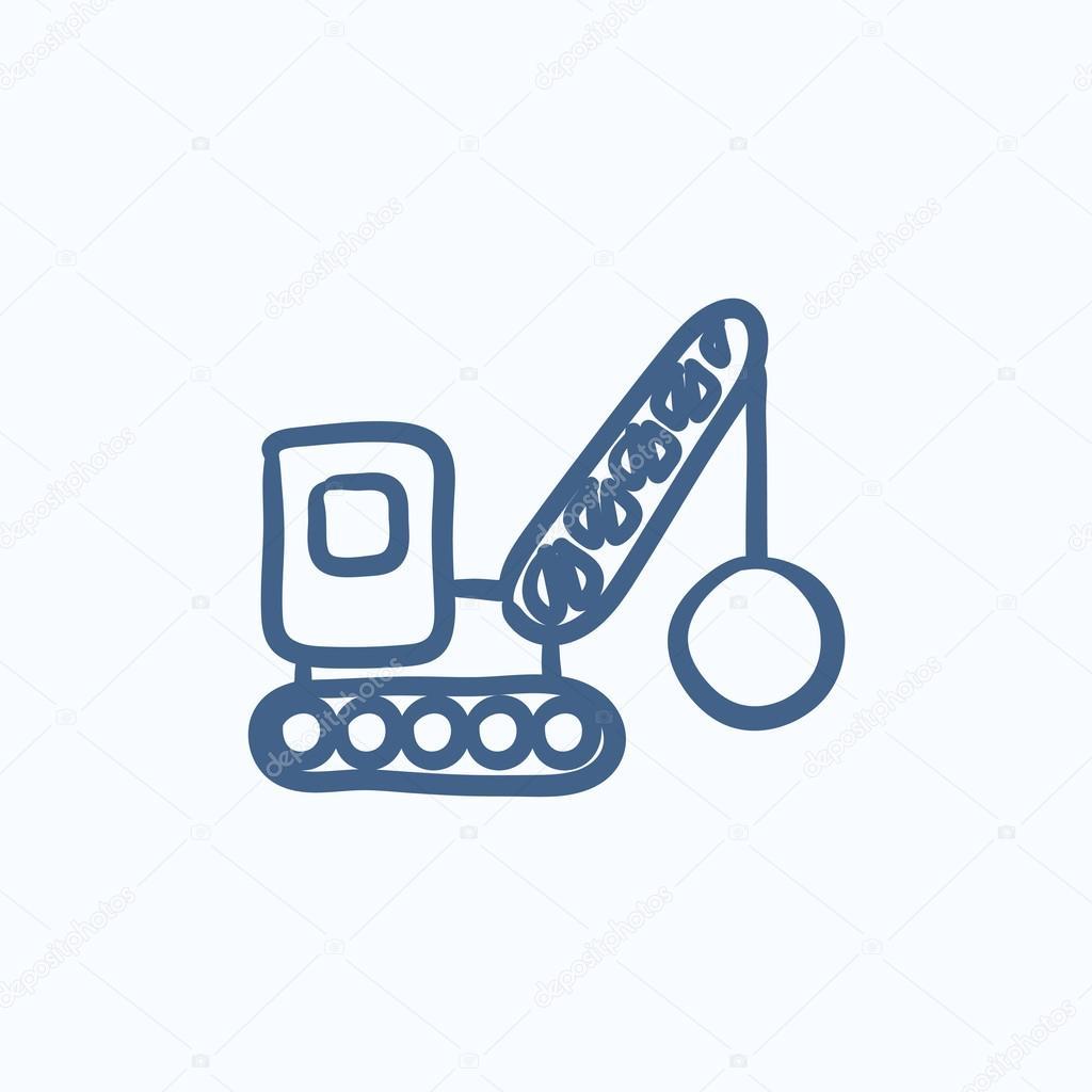 sloop kraan schets pictogram stockvector 169 rastudio