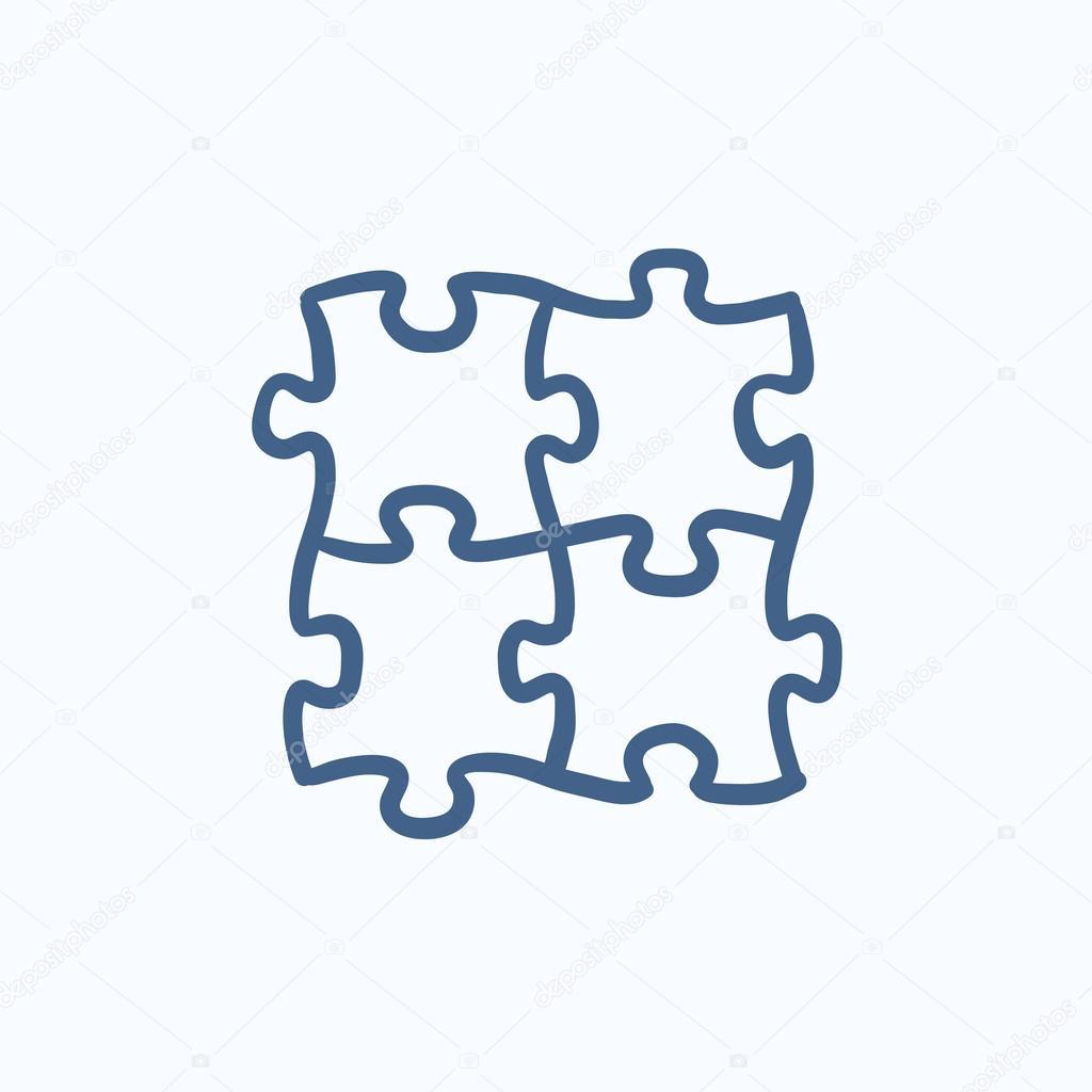 Puzzle dessin ic ne image vectorielle rastudio 113295442 - Puzzle dessin ...