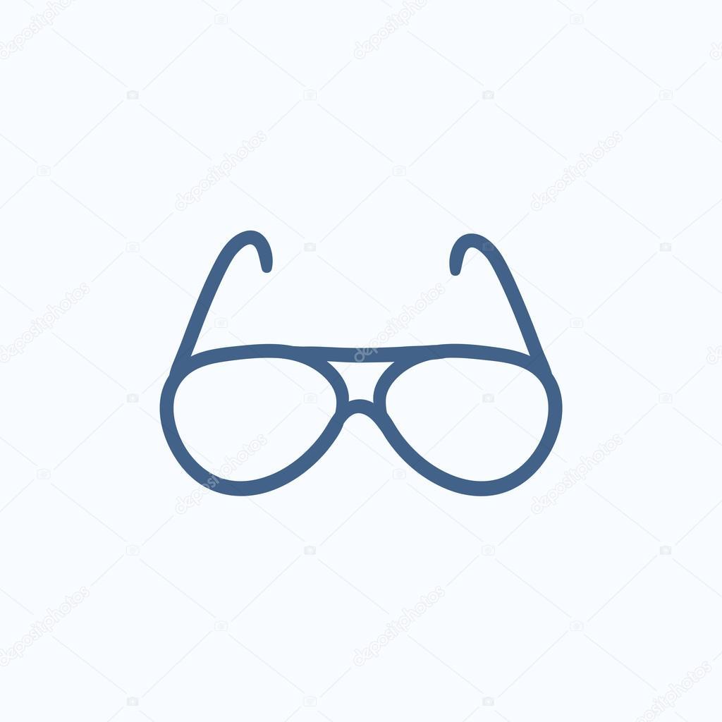 Dessin De Lunettes lunettes de vue dessin icône — image vectorielle rastudio © #113302550