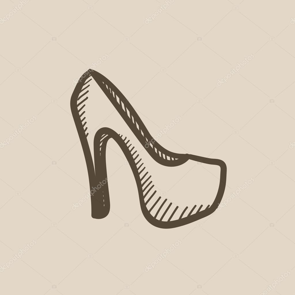 High Heel Schuh Skizze Symbol. — Stockvektor © rastudio