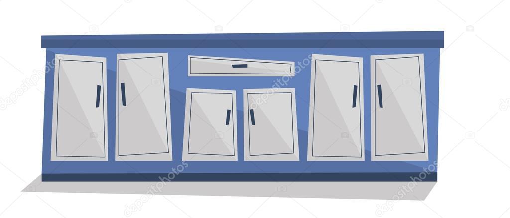 Mueble de cocina con cajones vector ilustraci n archivo for Mueble vector