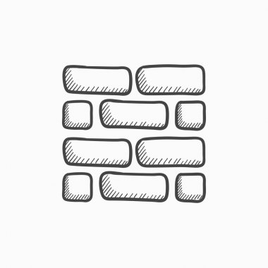 Brickwall sketch icon.