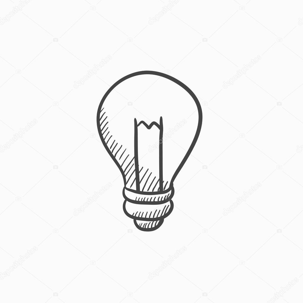Ampoule Dessin ampoule dessin icône — image vectorielle rastudio © #118935902
