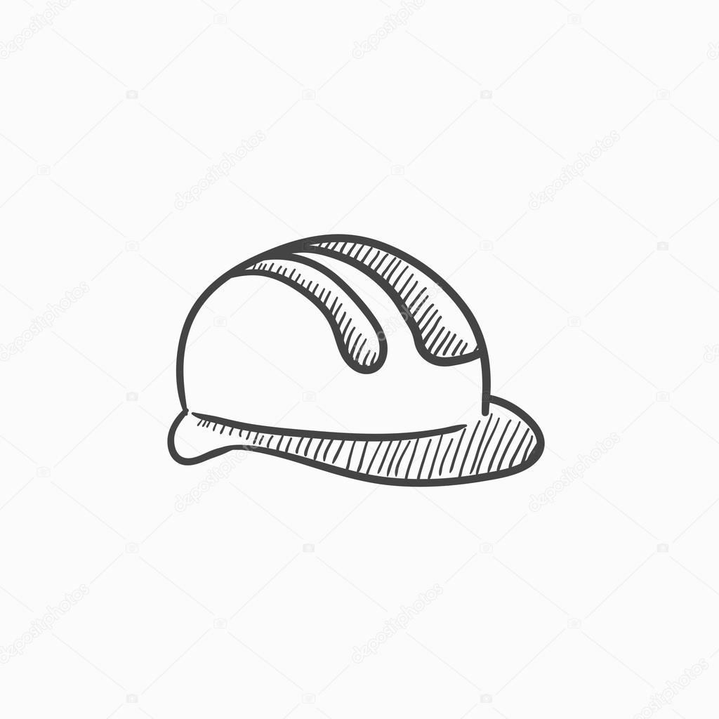 Schutzhelm Skizze Symbol Stockvektor C Rastudio 118937752