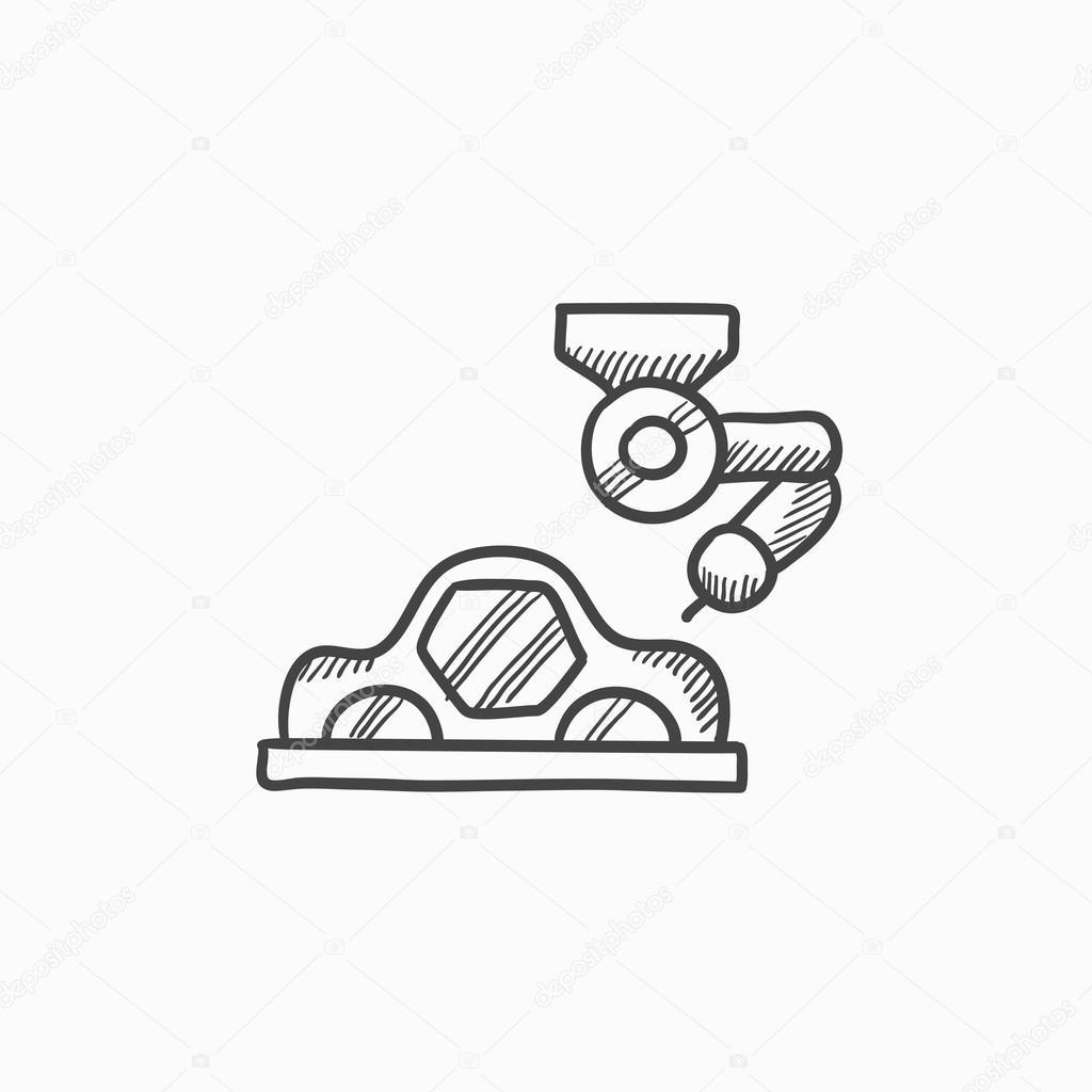 Auto-Produktion-Skizze-Symbol — Stockvektor © rastudio #118945100