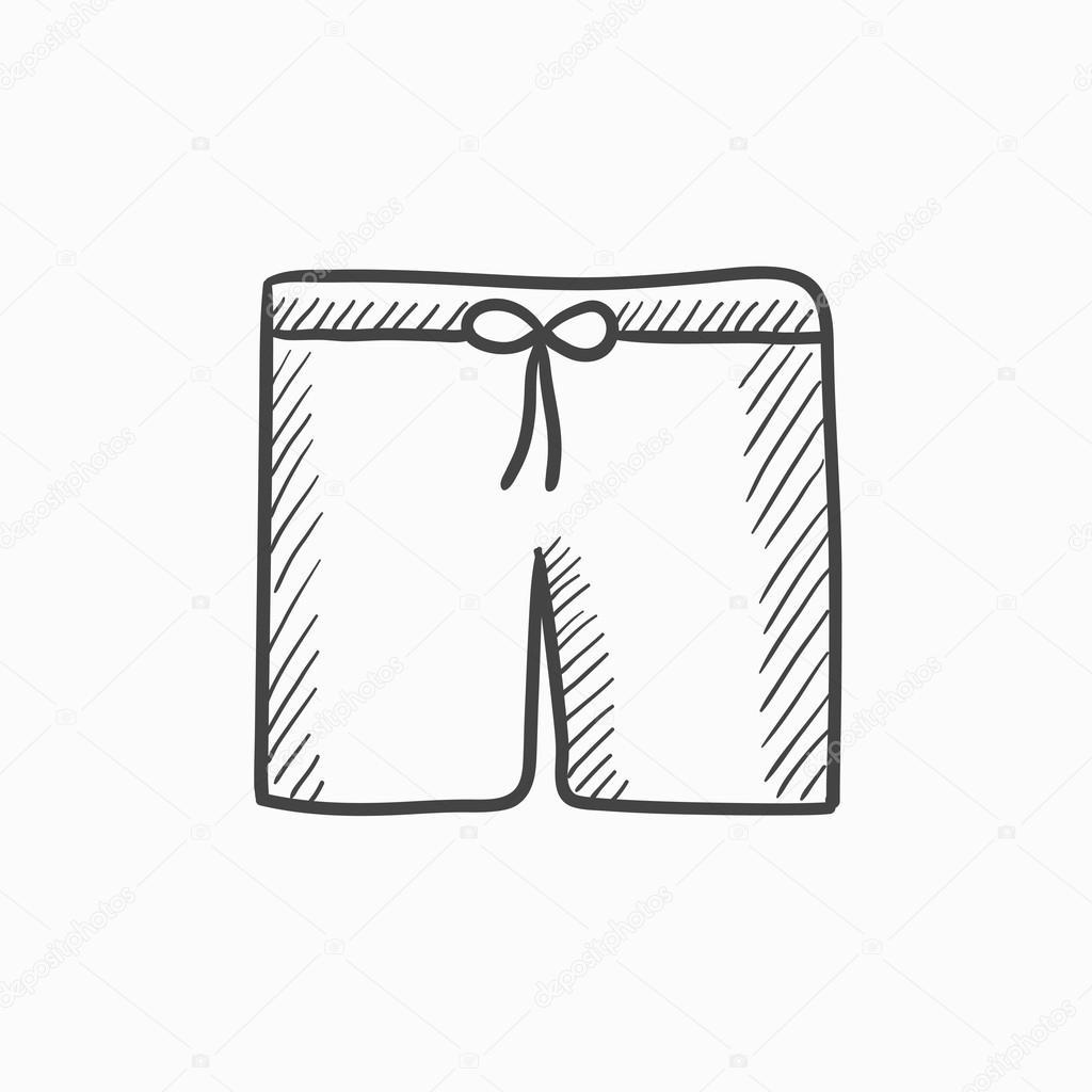 Badehose skizze symbol stockvektor rastudio 118952398 - Dessin de maillot de bain ...