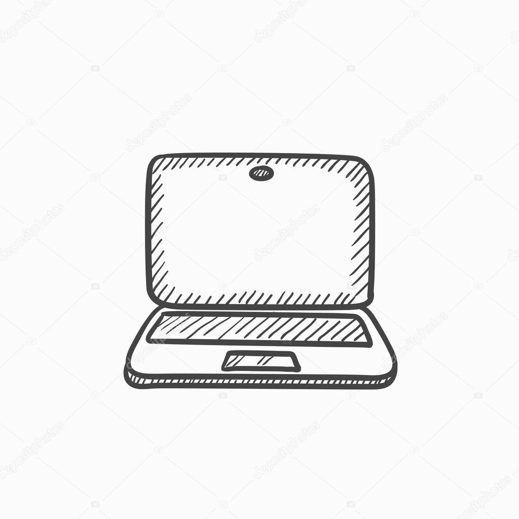 Icono De Dibujo Del Ordenador Portatil Archivo Imagenes