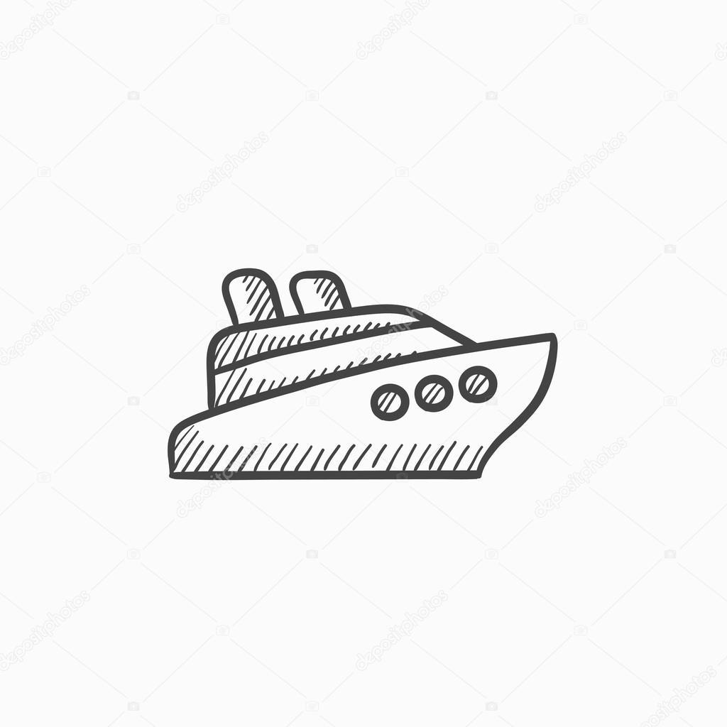 cruise ship sketch icon � stock vector 169 rastudio 118954050