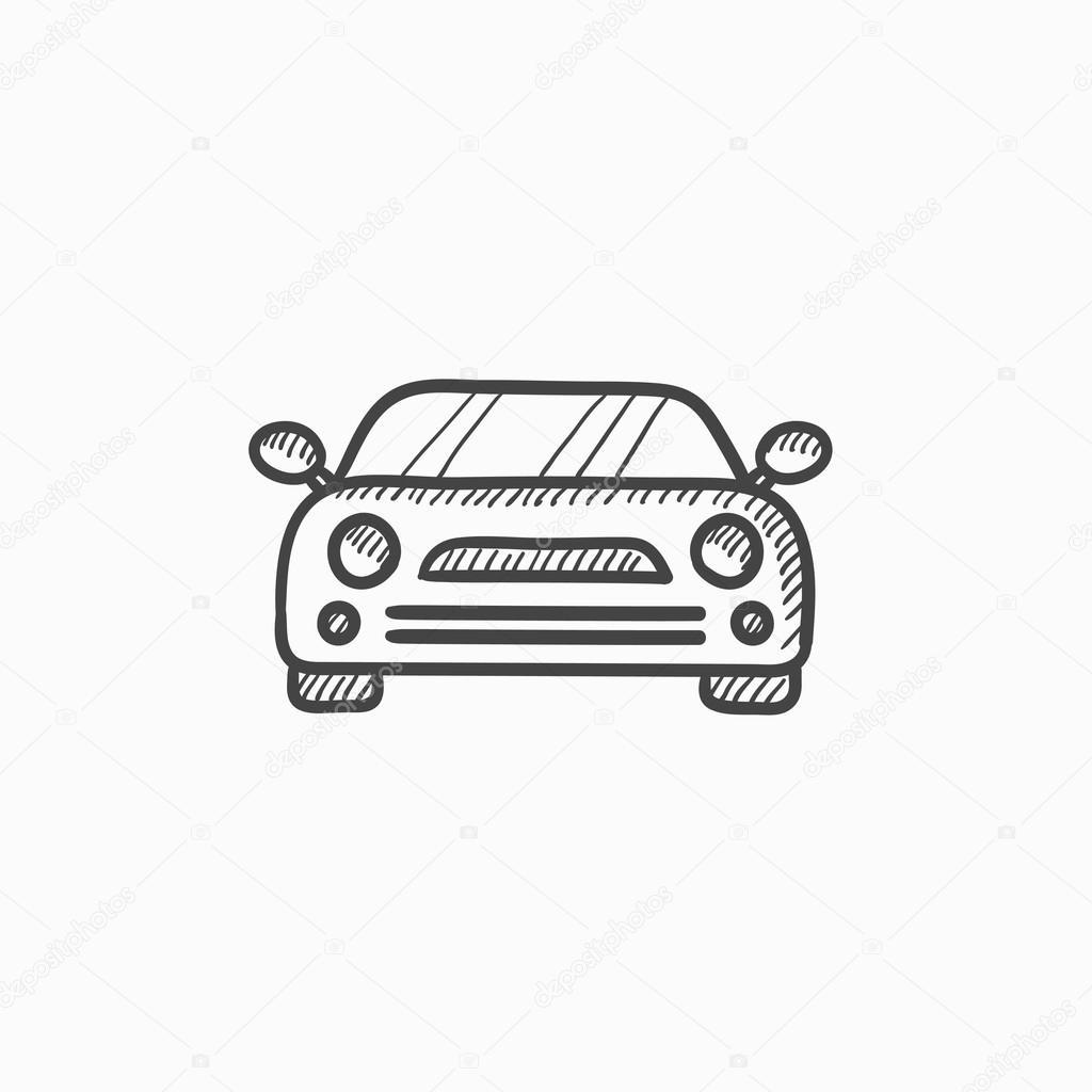 Auto-Skizze-Symbol — Stockvektor © rastudio #118954430