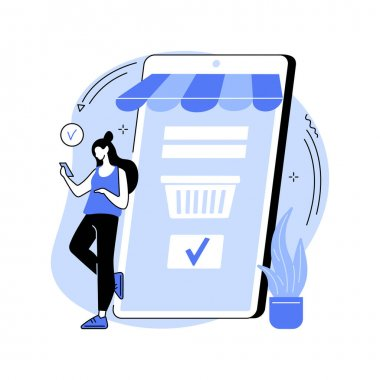 Order placed abstract concept vector illustration. E-commerce model, online store delivery, booking process, order placed, courier service, shipping conditions, purchase made abstract metaphor. icon