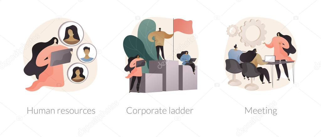 Headhunter service abstract concept vector illustration set icon