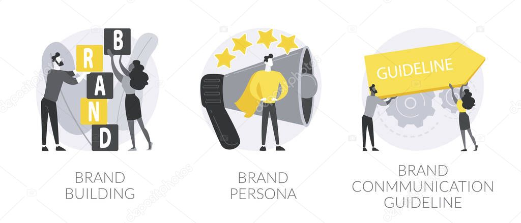 Business branding abstract concept vector illustration set icon