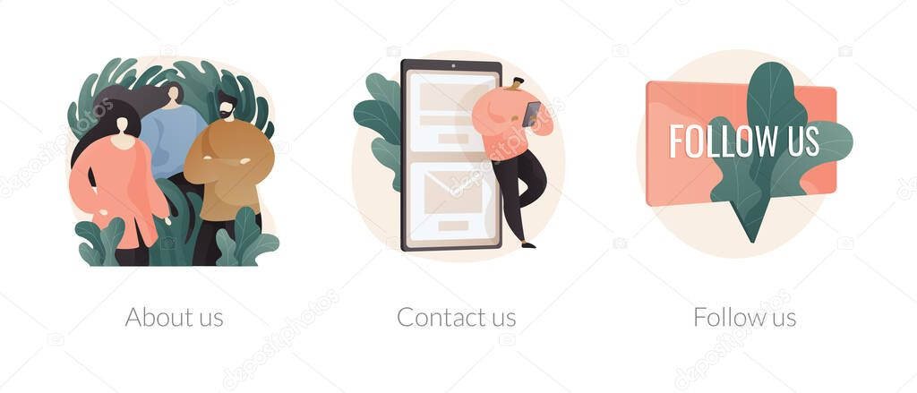 Company information abstract concept vector illustration set icon