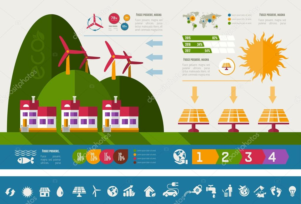 Ecology Infographic Template.