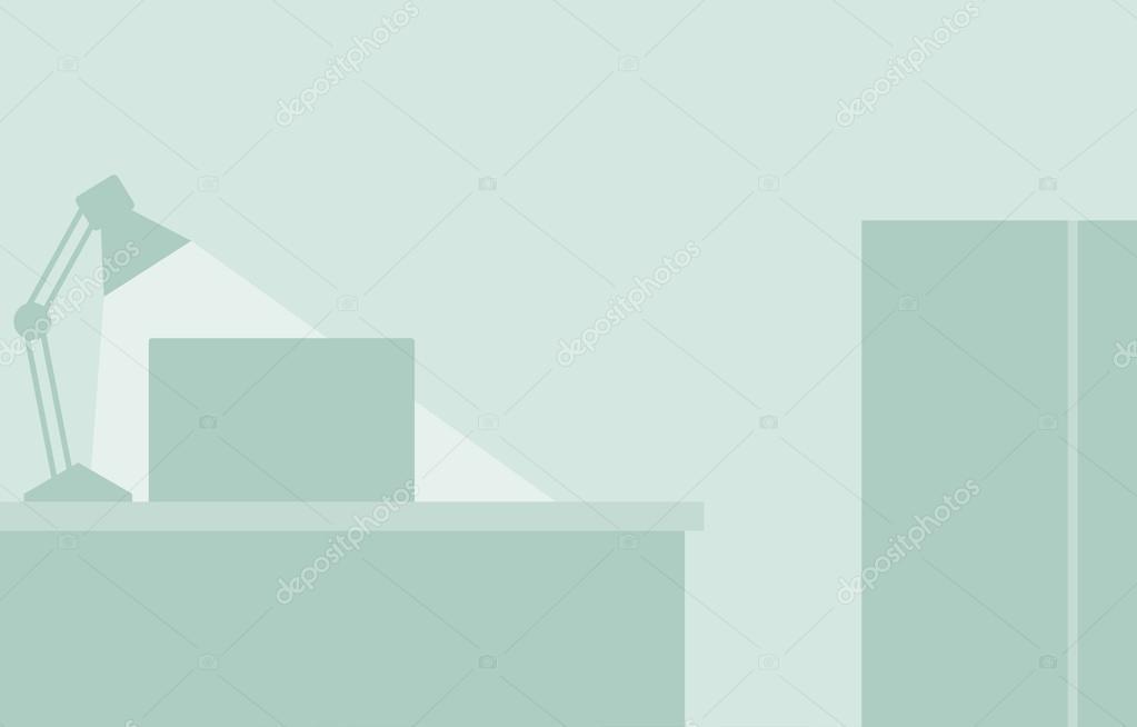 Flat Office Background Stock Vector C Rastudio 64716435