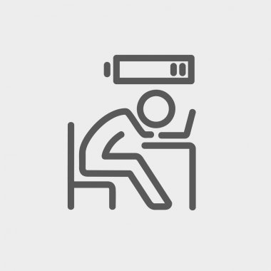 Businessman in low power thin line icon