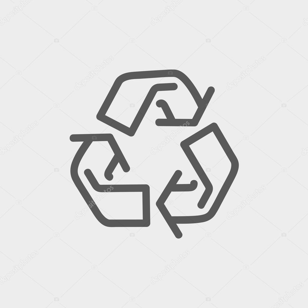 Recycle symbol thin line icon stock vector rastudio 70835039 recycle symbol thin line icon stock vector buycottarizona Choice Image