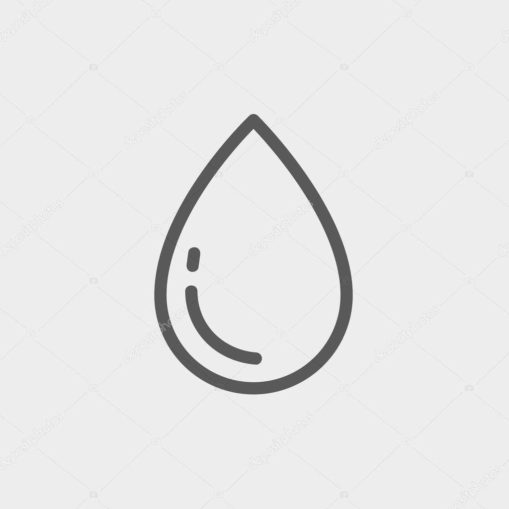 Water Drop thin line icon