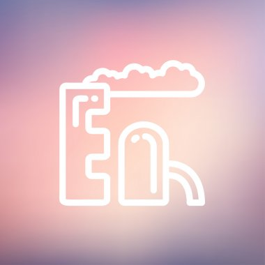 Factory thin line icon