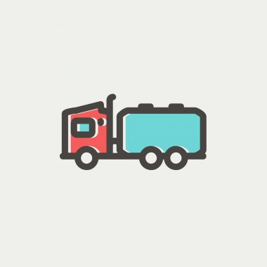 Tanker truck thin line icon