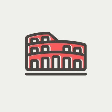 Coliseum thin line icon