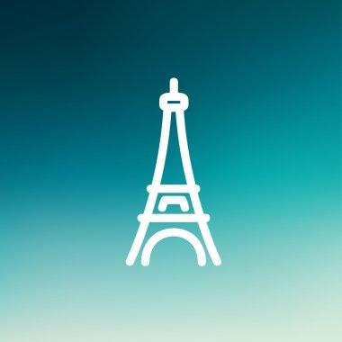 Paris Tower thin line icon