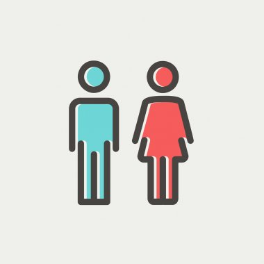 Male and female thin line icon