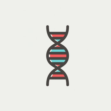 DNA thin line icon