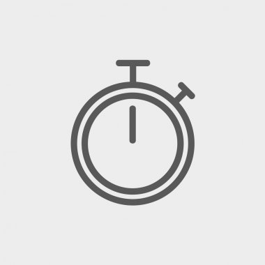 Stop watch thin line icon