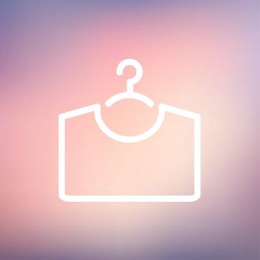 Shirt on hanger thin line icon