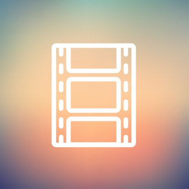 Filmstrip with image thin line icon