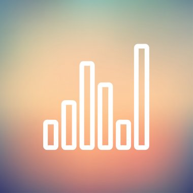 Equalizer icon thin line for web and mobile, modern minimalistic flat design. Vector white icon on gradient mesh background stock vector