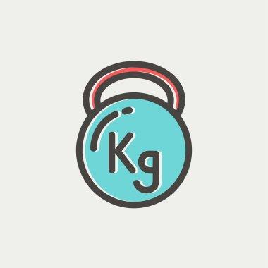 Kettlebell thin line icon
