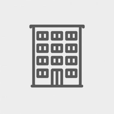 Hotel thin line icon