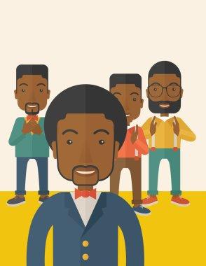 Handsome black businessmen.