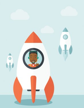 Black guy in On- line business start up