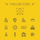 Photo Education thin line icon set
