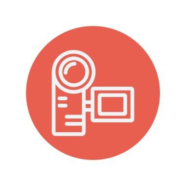 Camcorder thin line icon