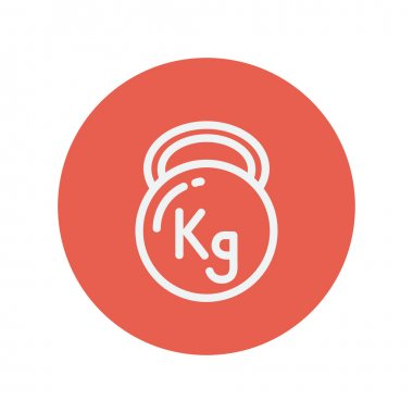 Kettlebell thin line icon